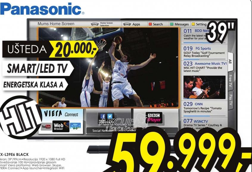 Televizor LED LCD TX-L39E6
