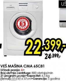 Mašina za pranje veša Cma 65c81