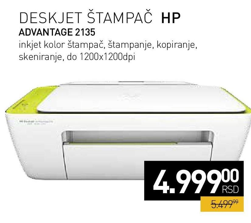 Multifunkcijski uređaj DeskJet Ink Advantage2135