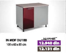 Kuhinjski element IN MDF DU100 bordo sjaj
