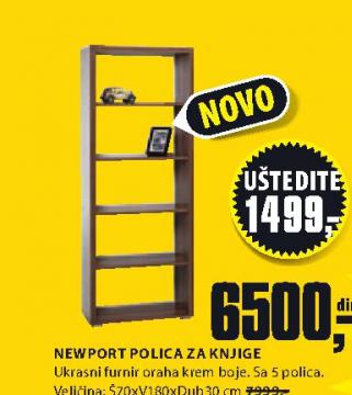Polica Newport za knjige