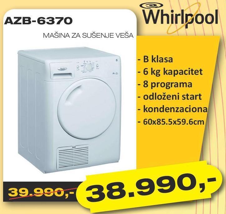Mašina za sušenje veša AZB 6370