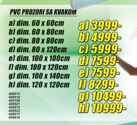 PVC prozori sa kvakom
