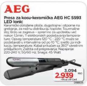 Presa za kosu HC 5593