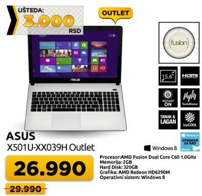 Laptop X501u-xx039h