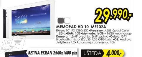 Tablet MeMO Pad HD 10 ME102A 1B037A