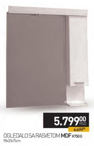Ogledalo sa rasvetom Mdf K750g