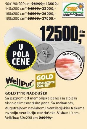 Naddušek Gold T110 90x190/200