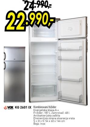 Frižider kombinovani KG 2601 IX