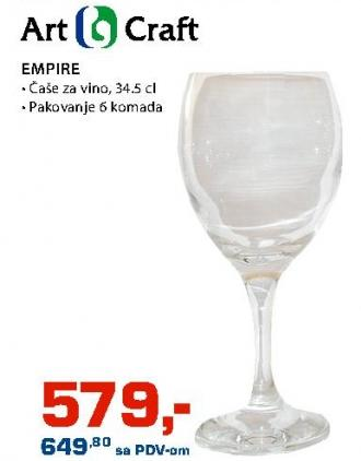 Čaše za vino Empire Art Craft