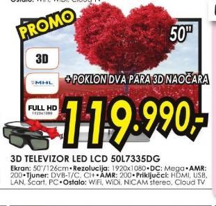 Televizor LED 50L7335DG