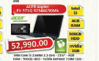 Laptop računar Aspire E1-571G-32344G50Mk