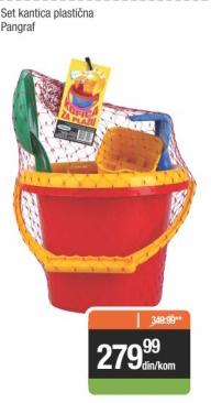 Set kantica plastična - Pangraf