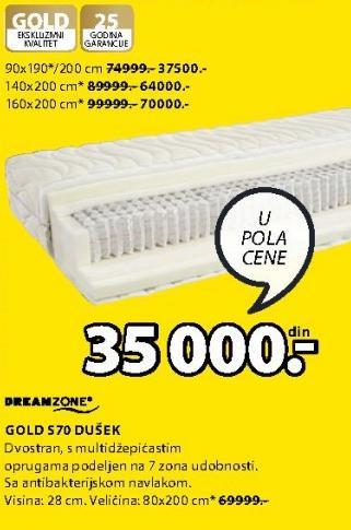 Dušek Gold S70 90x190/200cm