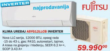 Klima uređaj Asyg12llcb Inverter