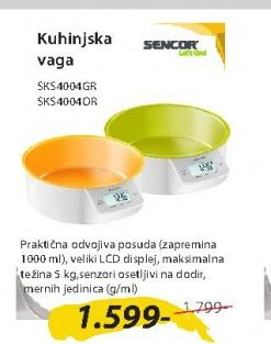 Kuhinjska vaga SKS4004OR