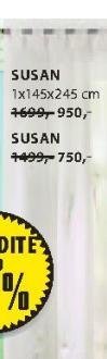 Zavesa Susan, 1x145x245cm