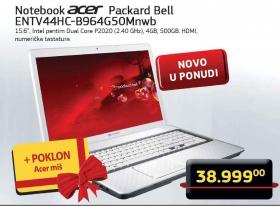 Laptop Packard Bell ENTV44HC-B964G50MNWB + Poklon Acer miš