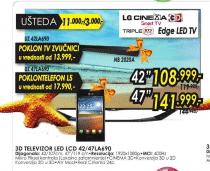 3D LED LCD TV 47LA690 + TV ZVUČNICI