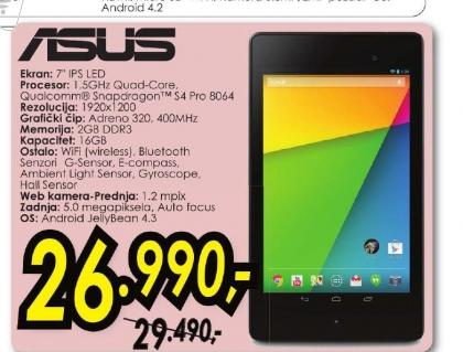Tablet Nexus 7 1A032A
