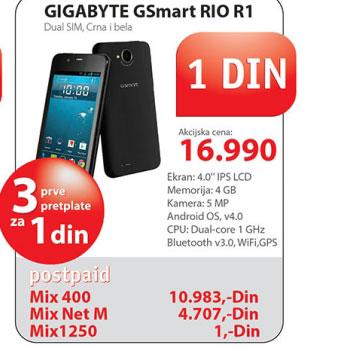 Mobilni telefon GIGABYTE GSmart RIO R1