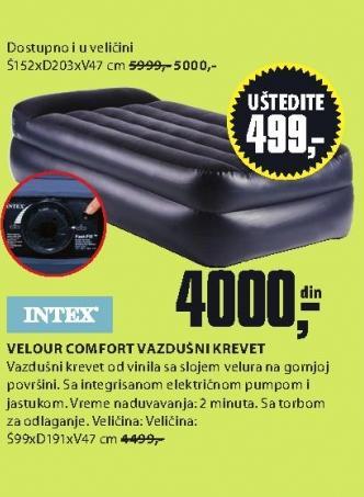 Vazdušni krevet Velour Comfort 152x203x47