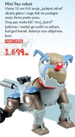 Igračka mini pas robot