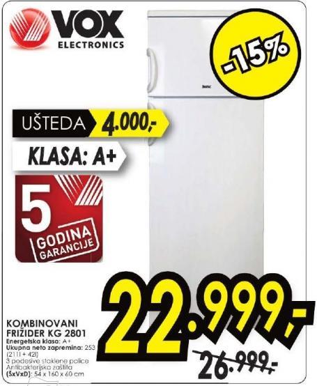 Kombinovani frižider Kg 2801