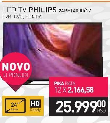 """Televizor LED 24"""" 24PFT4000/12"""