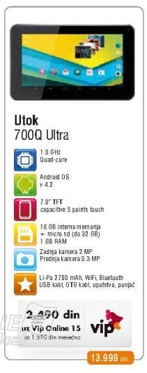 Tablet 700Q Ultra Utok