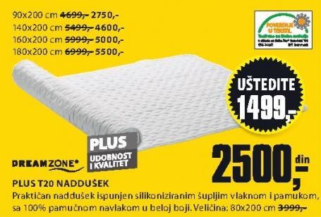 Naddušek Plus T20 160x200