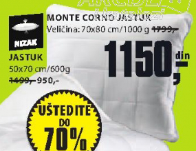 Jastuk Monte Corno, 50x70cm