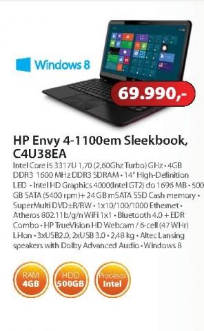 Laptop Envy Sleekbook 4-1100en C4U38EA