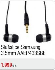 Slušalice 3,5mm AAEP433SBE
