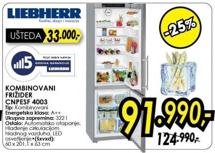 Kombinovani frižider Cnpesf 4003