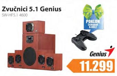 Zvučnici  SW-HF5,1 4600 + Poklon 2xJoypad G-08x2