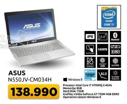 Laptop N550jv-cm034h
