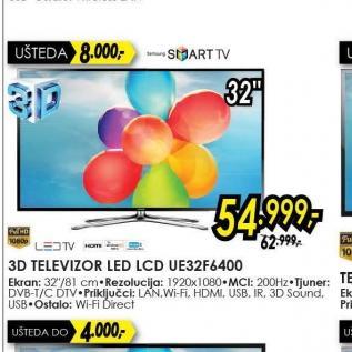 Televizor LED LCD UE-32F6400
