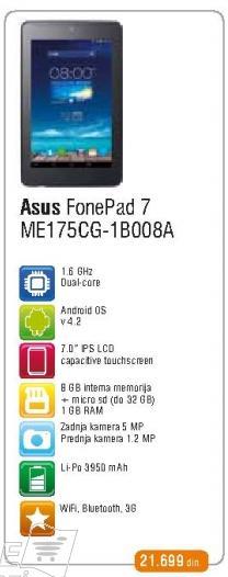 Tablet FonePad 7 Me175cg-1b008a