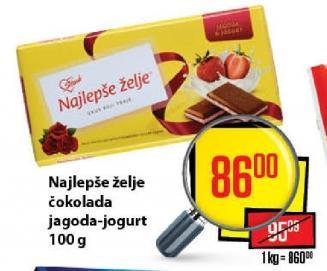 Čokolada jagoda i jogurt