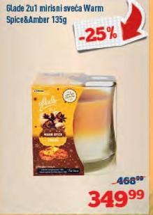 Mirisna sveća 2u1 warm spice&amber