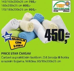 Čaršav Price Star 170/180x200x25