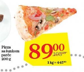Pizza šunka