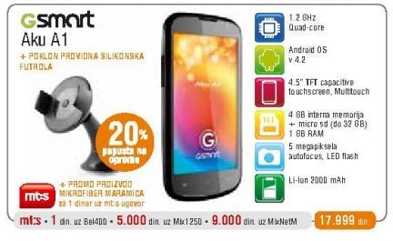 Mobilni telefon Gsmart Aku A1 + poklon silikonska futrola