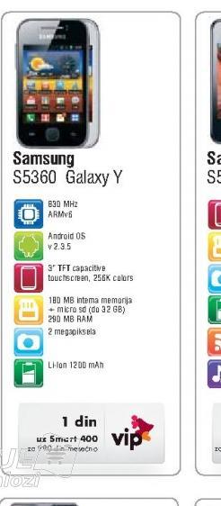Mobilni Telefon S5630 Galaxy Y