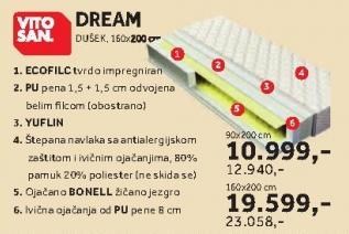 Dušek Dream 160x200cm