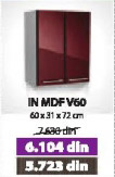 Kuhinjski element IN MDF V60 bordo sjaj