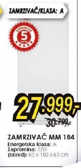 Zamrzivač vertikalni MM184