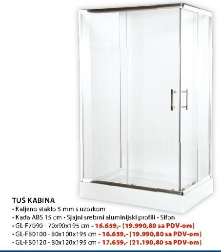 Tuš kabina GL F7090-