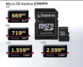 Micro Sd Kartica 4Gb